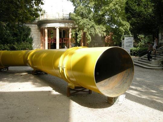 «Газовая труба». Инсталляция эстонских участников