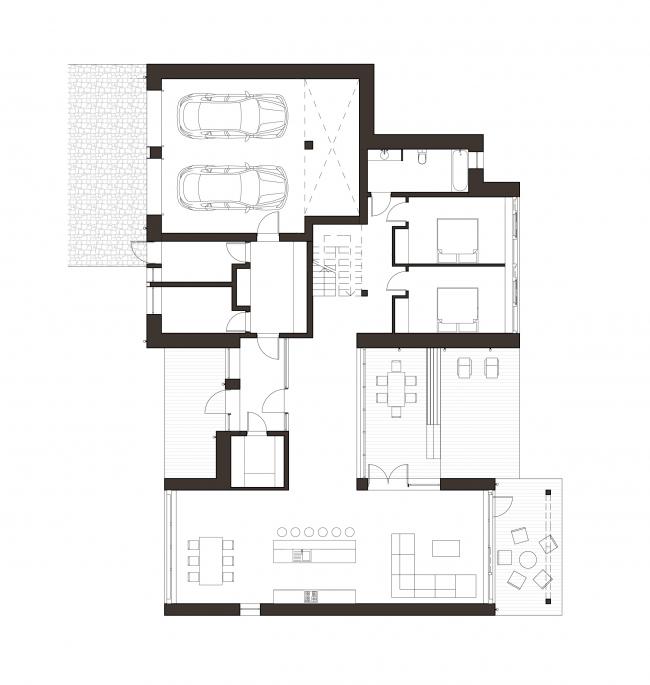 План 1-го этажа. Дом как приватный квартал