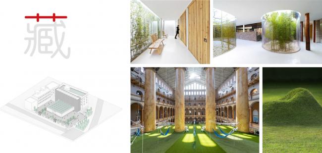 Концепция озеленения. Shuanglong Lane Immersive Theatre