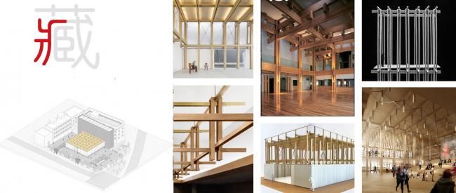 Концепция структуры материалов. Shuanglong Lane Immersive Theatre