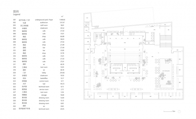 План подземного этажа. Shuanglong Lane Immersive Theatre