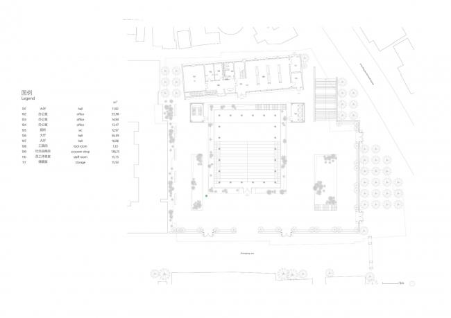 План 1-го этажа. Shuanglong Lane Immersive Theatre