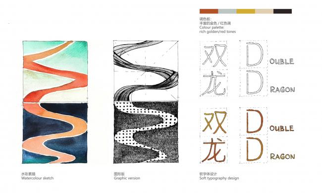 Процесс разработки логотипа. Shuanglong Lane Immersive Theatre