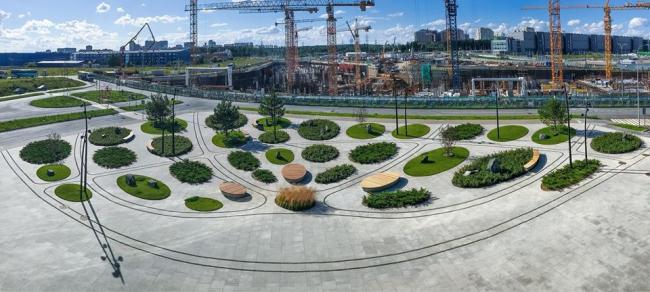 Благоустройство территории научно-технического центра ПАО «Татнефть» в Сколково