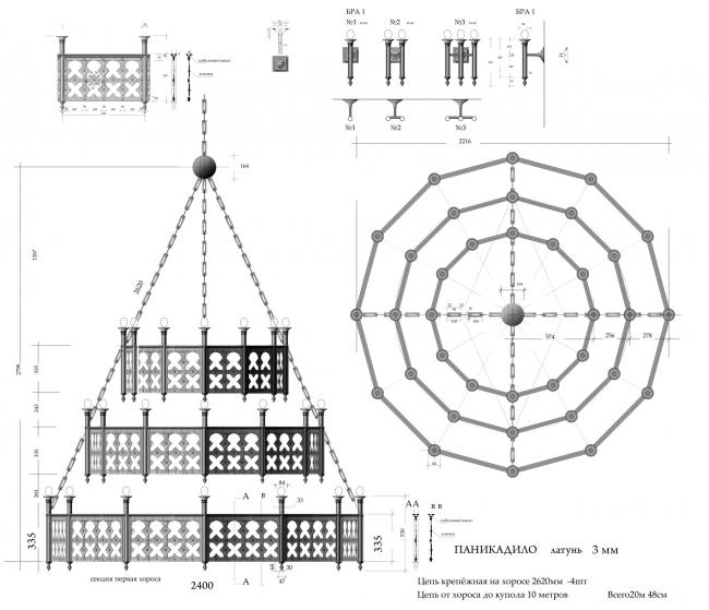 Проект люстры. Храм Усекновения главы Иоанна Предтечи