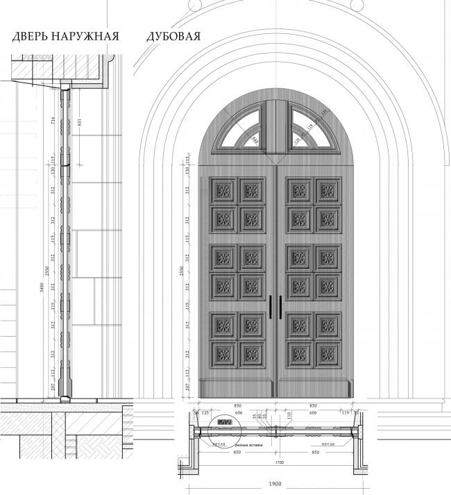 Наружная дверь чертеж и рисунок. Храм Усекновения главы Иоанна Предтечи