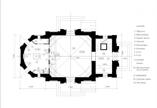 План. Храм Усекновения главы Иоанна Предтечи