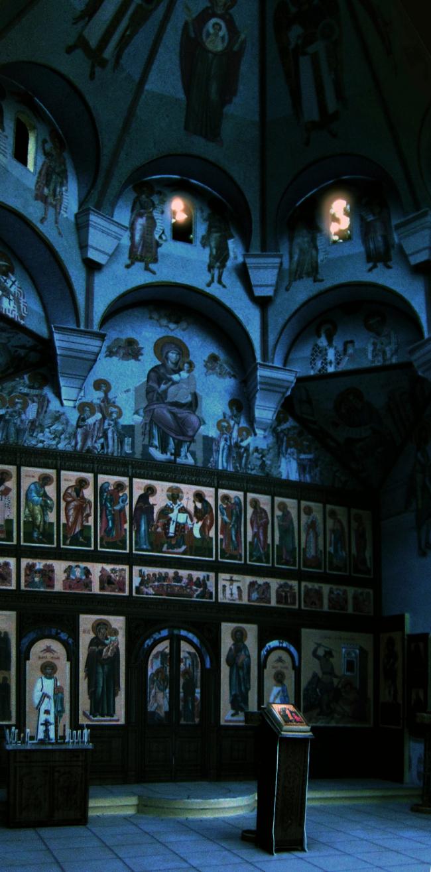 Иконостас и проект росписи. Храм Усекновения главы Иоанна Предтечи