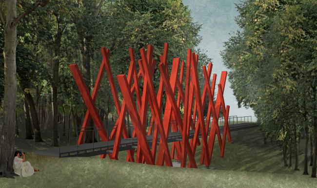 «Красный лес», новый объект для фестиваля «Архстояние» 2020