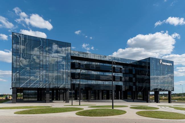 Главный фасад. Перспективный вид.  Научно-технический центр ПАО «Татнефть»