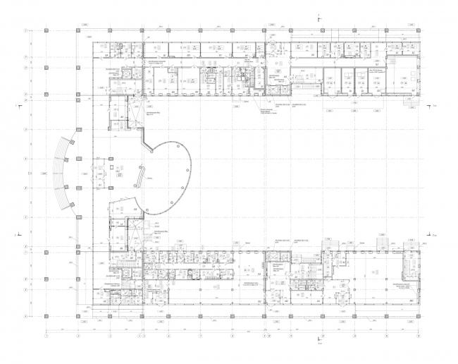 План 1-го этажа. Научно-технический центр ПАО «Татнефть»