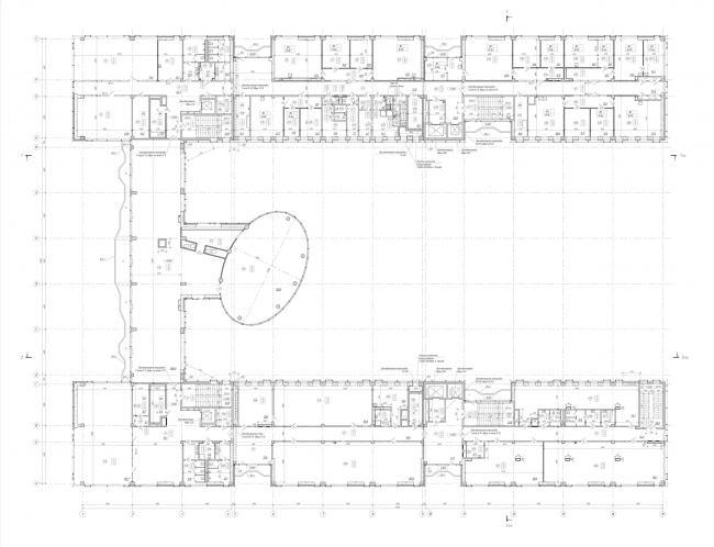 План 3-го этажа. Научно-технический центр ПАО «Татнефть»