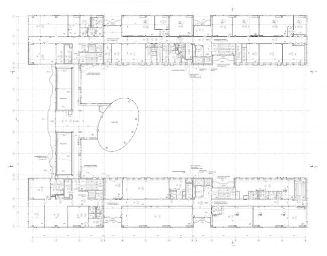План 4-го этажа. Научно-технический центр ПАО «Татнефть»