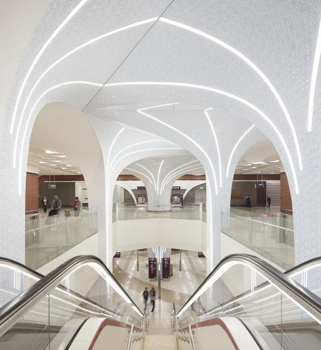 Метрополитен в Дохе. Станция «Выставочный центр DECC»