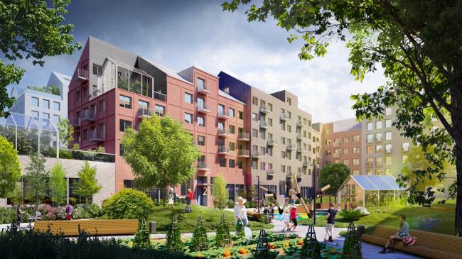 Вид на внутренний двор. Разработка архитектурно-градостроительной концепции развития городского округа «Город Южно-Сахалинск»