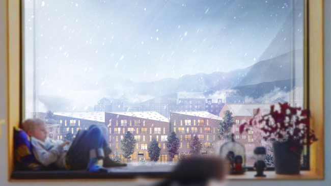 Вид из окна во двор. Разработка архитектурно-градостроительной концепции развития городского округа «Город Южно-Сахалинск»