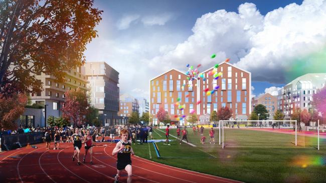 Спортивное ядро  в 7 мкр.Разработка архитектурно-градостроительной концепции развития городского округа «Город Южно-Сахалинск»