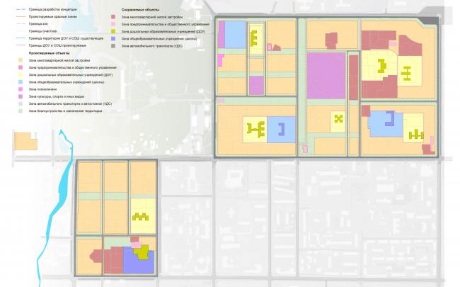 Схема расположения элементов планировочной структуры. Разработка архитектурно-градостроительной концепции развития городского округа «Город Южно-Сахалинск»