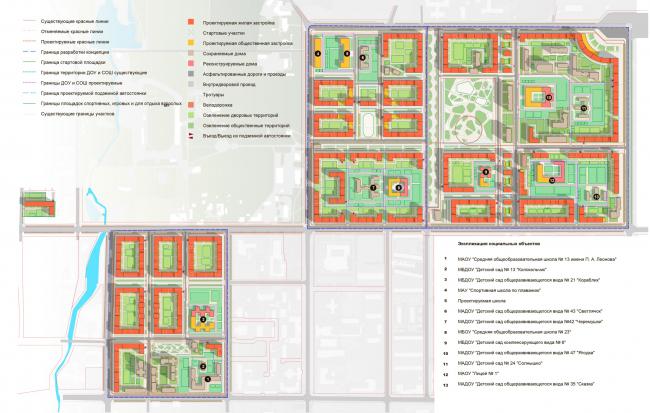 Схема плана застройки. Реновация г. Южно-Сахалинск. Разработка архитектурно-градостроительной концепции развития городского округа «Город Южно-Сахалинск»