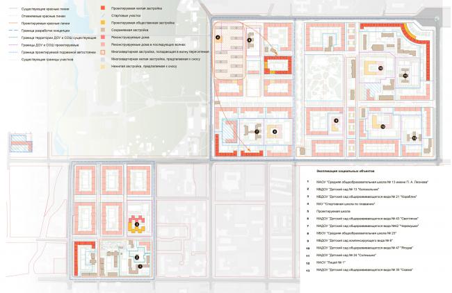 Схема волнового переселения (6 волна). Разработка архитектурно-градостроительной концепции развития городского округа «Город Южно-Сахалинск»