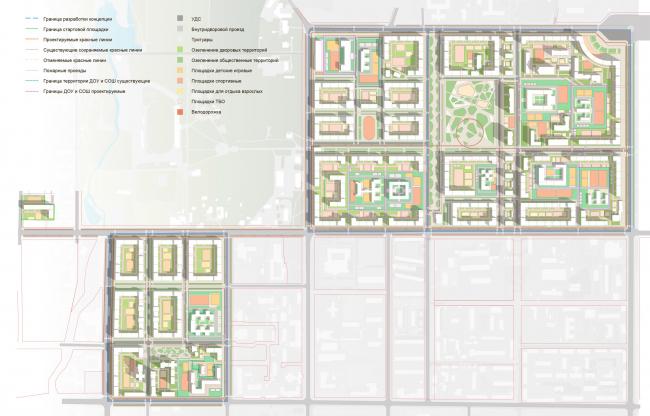 Схема озеленения. Разработка архитектурно-градостроительной концепции развития городского округа «Город Южно-Сахалинск»
