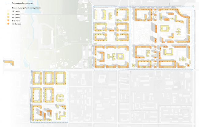Схема этажности. Разработка архитектурно-градостроительной концепции развития городского округа «Город Южно-Сахалинск»
