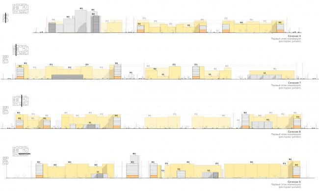 Сечения по территории. Разработка архитектурно-градостроительной концепции развития городского округа «Город Южно-Сахалинск»