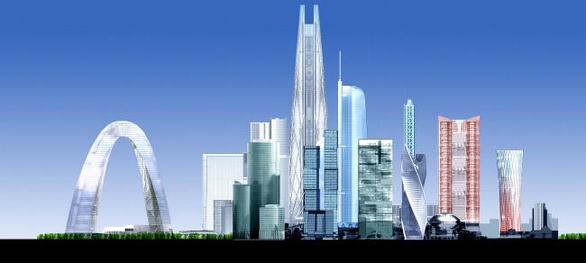 Концепция застройки 24 И 25 участка ММДЦ «Москва-Сити» © Проект КС