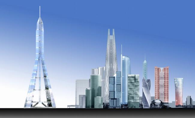 Концепция застройки 24 И 25 участка ММДЦ «Москва-Сити». 3 вариант © Проект КС