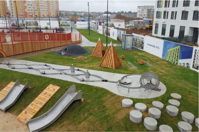 Детская площадка на территории ЖК «Бунинские Луга»
