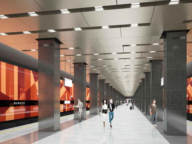 Станция метрополитена «Мамыри» Коммунарской линии
