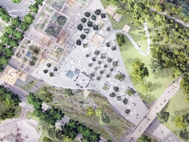 Конкурсная концепция парка «Тучков буян» в Петербурге