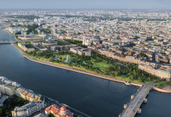Буян на Неве. Ландшафтно-архитектурная концепция парка «Тучков буян»