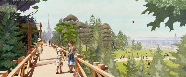 "Romantic park ""Tuchkov Buyan"""