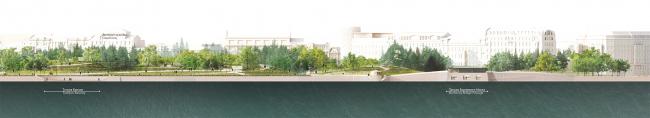 "Romantic park ""Tuchkov Buyan"". The waterfront"