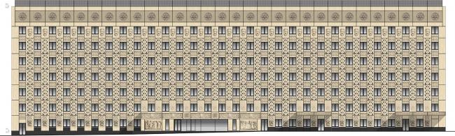 Городская клиническая больница №23 им. И.В. Давыдовского. Реконструкция корпуса 4. Главный фасад