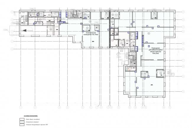 План 1-го этажа. Жилой дом на Заставской