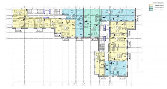 План 3-8 этажей. Жилой дом на Заставской