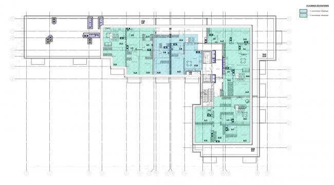 План 9-го этажа. Жилой дом на Заставской
