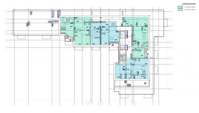 План 10-го этажа. Жилой дом на Заставской