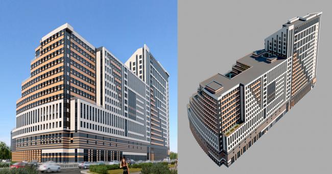Торгово-офисный комплекс, вариант 2