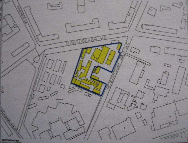 Офисно-административный комплекс с торговыми помещениями на улице Можайский вал. Ситуационный план