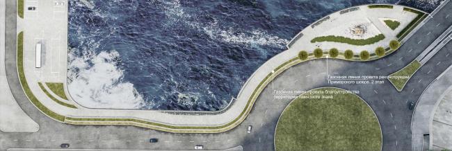 Проект памятника Петру I, спасающему утопающих близ Лахты. Первый вариант