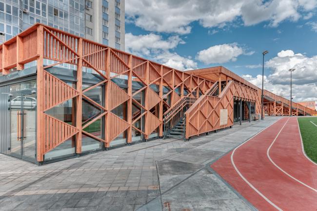Спортивный развлекательный центр у ТЦ «МЕГА» в Химках. Авторы: MAP (архитектура), Alpbau (конструктив)