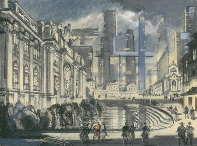 Оттиск будущего. Архитектурная фантазия на тему офорта Пиранези «Вид фонтана Треви»