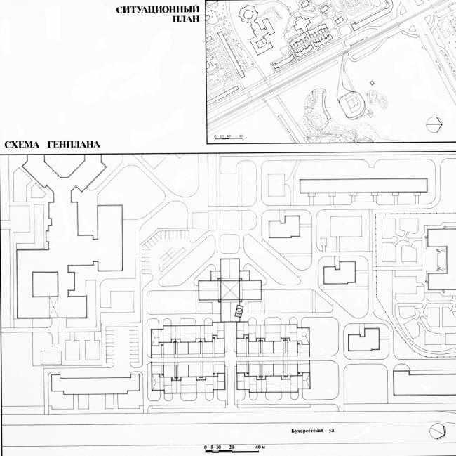Генеральный и ситуационный планы. Кондоминиум в Купчино