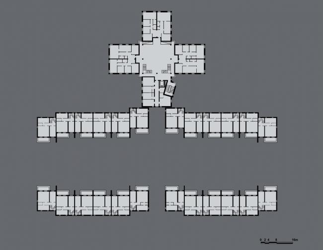 План типового этажа. Кондоминиум в Купчино