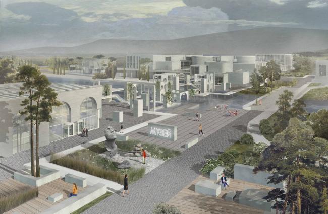 Комплекс Научно-исследовательского института археологии в городе Инкерман