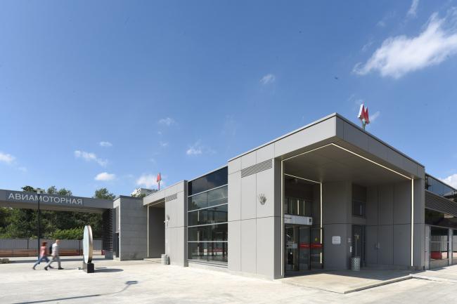 Входной павильон станции метро «Авиамоторная», открытв 2020 году