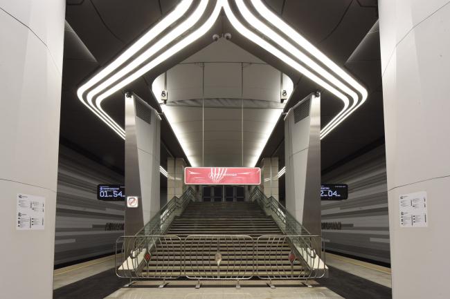 Интерьер станции метро «Авиамоторная», открыт в 2020